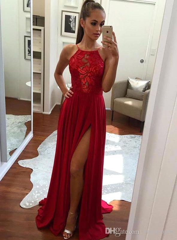 long red prom dresses