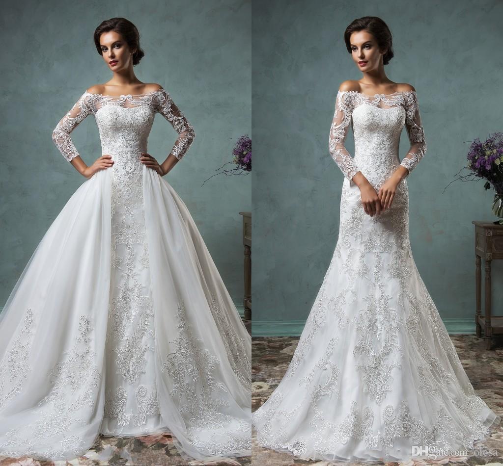 Discount Amelia Sposa 2016 Vintage Lace Wedding Dresses