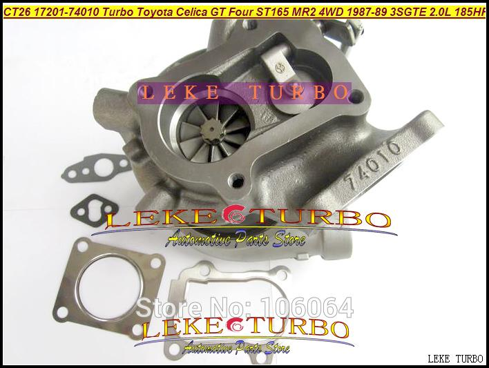 CT26 17201-74010 Turbo Turbocharger For TOYOTA Celica GT Four ST165 MR2 4WD 1987-89 3SGTE 2.0L 185HP 204HP (1)