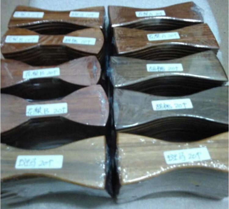 Laços de madeira Produtos semiacabados 4 estilos Bowkie tradicional do vintage feito à mão para o casamento do cavalheiro Bowtie de madeira do dia dos pais
