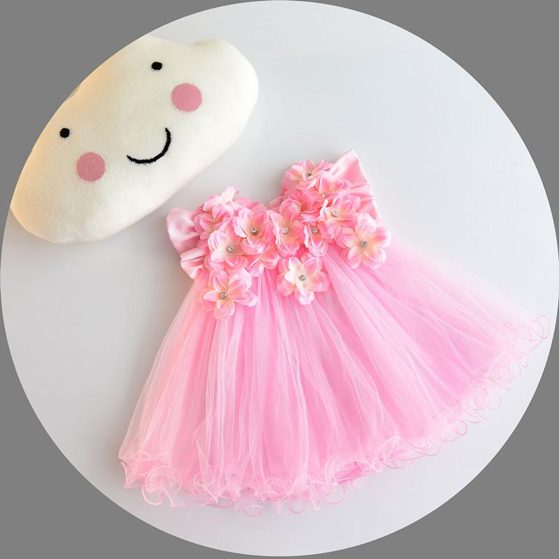 Compre Al Por Mayor Baby Girl Dresses 3d Estereoscópico Applique ...