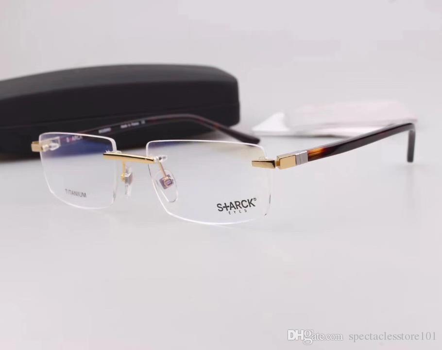 2018 Men Eyeglasses Frames Mikli 1393 Pure Titanium Glasses Rimless ...