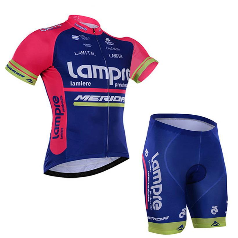 2016 LAMPRE MERIDA Pro TEAM BLUE Short Sleeve Cycling Jersey Bike Bicycle  Wear + Shorts Size XS-4XL MERIDA Online with  36.58 Piece on Camo s Store  ... 4e83c6b2e
