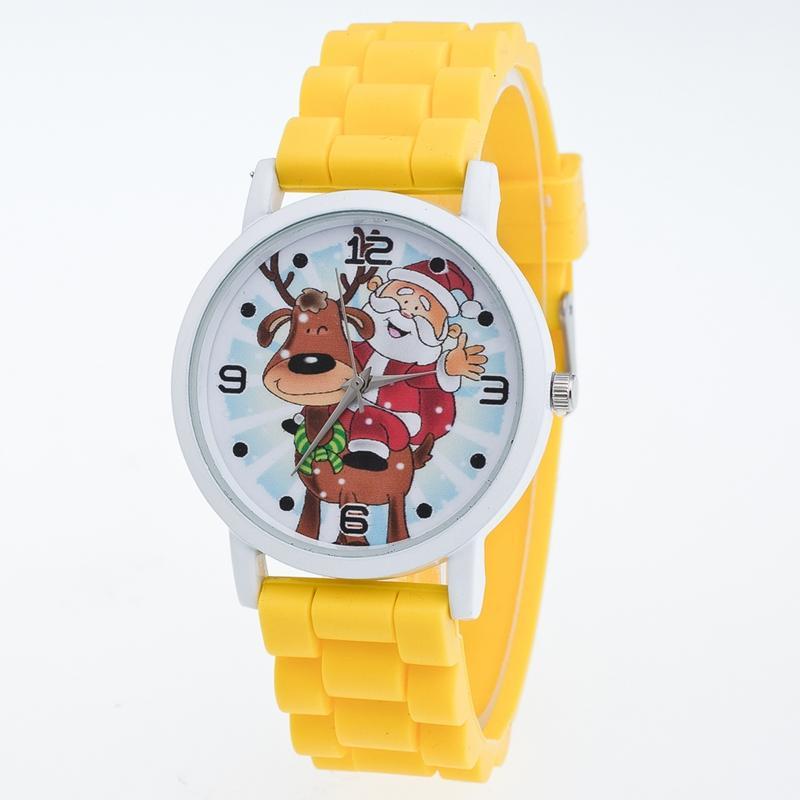 c06201a93375 Compre Reloj De Pulsera De Cuarzo De Los Niños De Las Mujeres Patrón De La  Navidad Del Papá Correa De La Correa De Silicona Reloj De La Manera Reloj  De ...