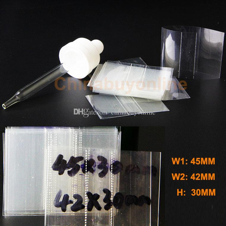 Clear PVC Heat Shrink Wraps Film for 10ml 15ml 20ml 30ml 50ml e-cigarettes E-liquid or e-juice empty Glass dropper Bottle Caps shrink seals
