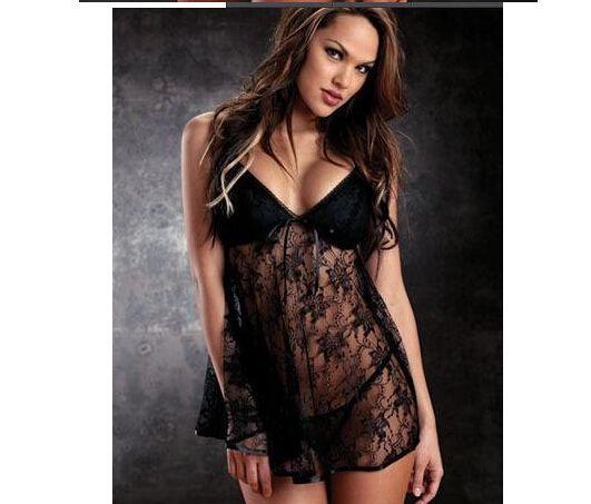 Vendita calda Nuova vacanza Saldi Hot Satin Sexy Lingerie Lady diafana pigiama gonna di pizzo Sleepwear Taglia M L XL 2XL 3XL
