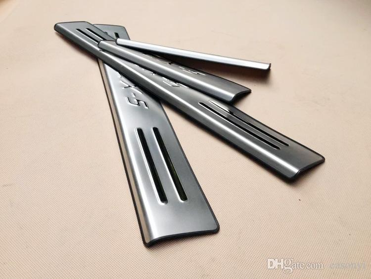 2015 MAZDA CX-5 CX 5 CX5 Puerta de acero inoxidable de la puerta de la puerta de la placa Bienvenido Pedal de umbral para 2013 2014 2015 CX-5 Accesorios para automóviles