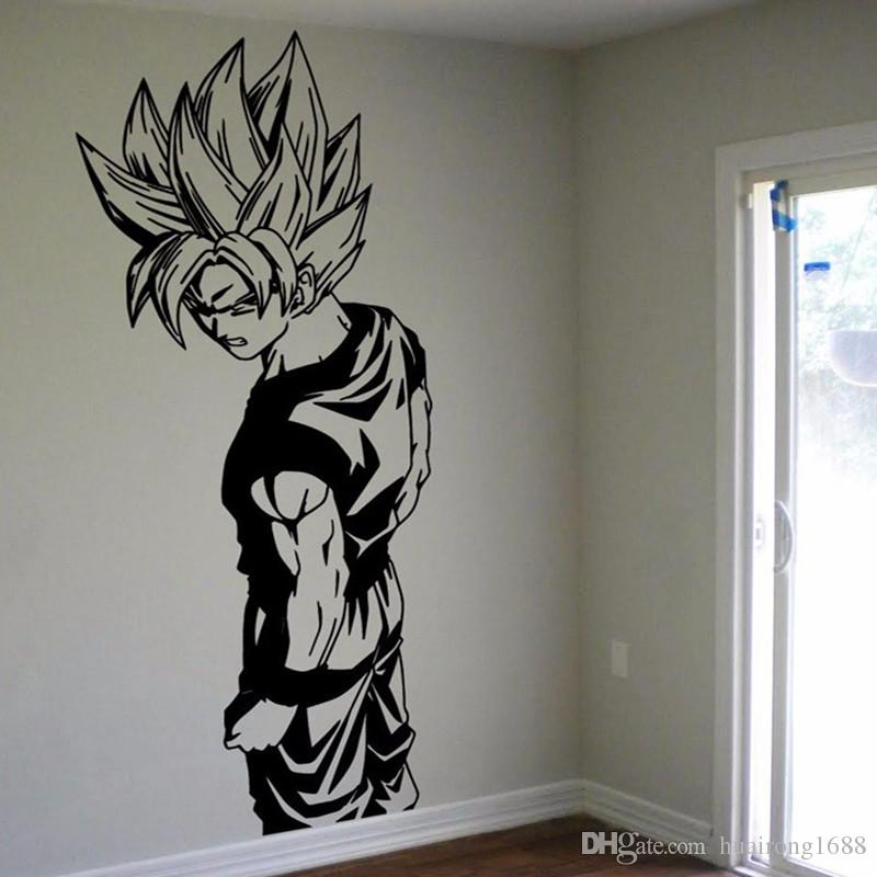 D240 super saiyan goku vinyl wall decal dragon ball z dbz for Dragon ball z bedroom
