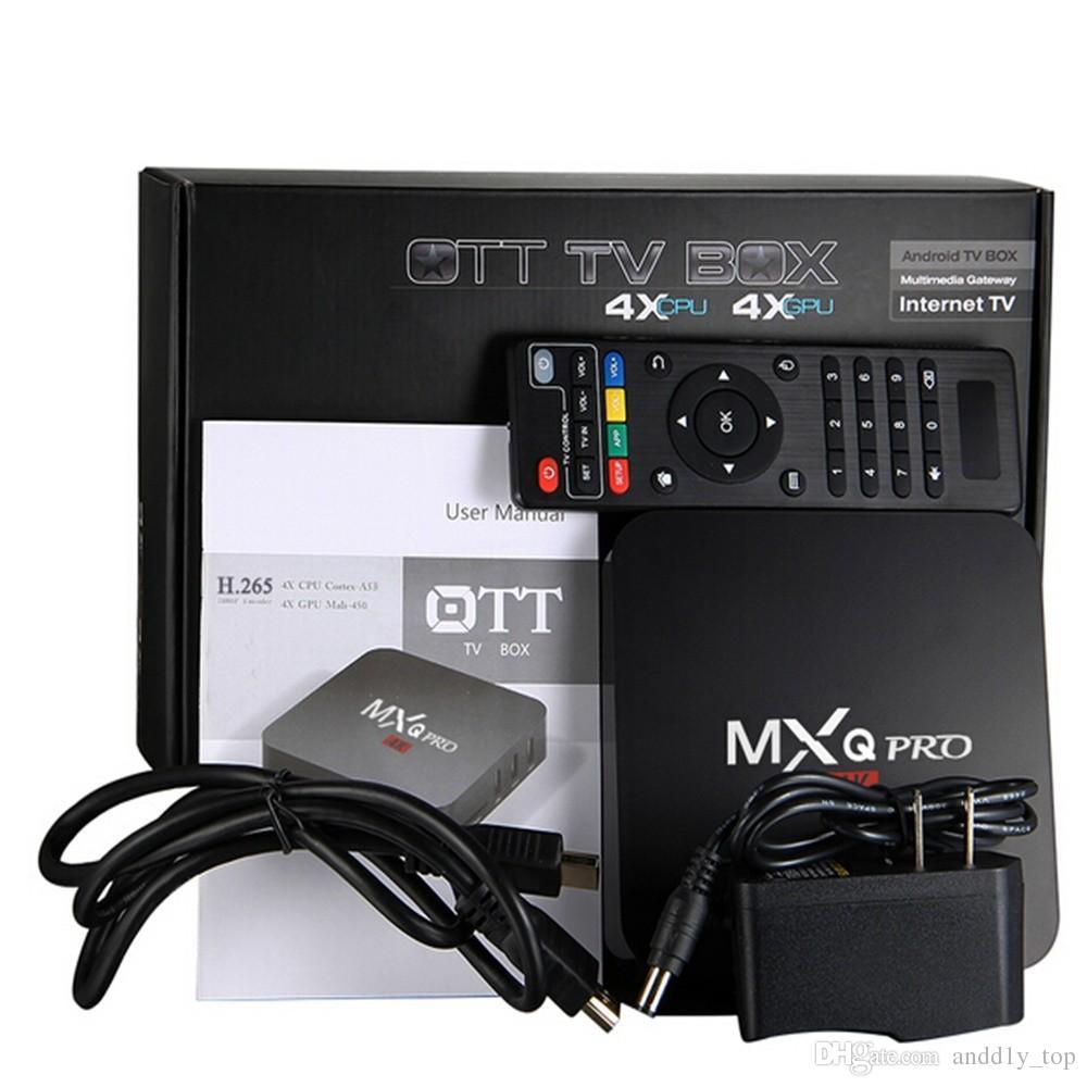 Коробка TV андроида 7.1 противоударный Pro с 4К четырехъядерный процессор 1 ГБ/8 ГБ встроенный S905W от Rockchip RK3229 смарт-телевизор коробка поддержка 3D и 4K беспроводной доступ в интернет и IPTV