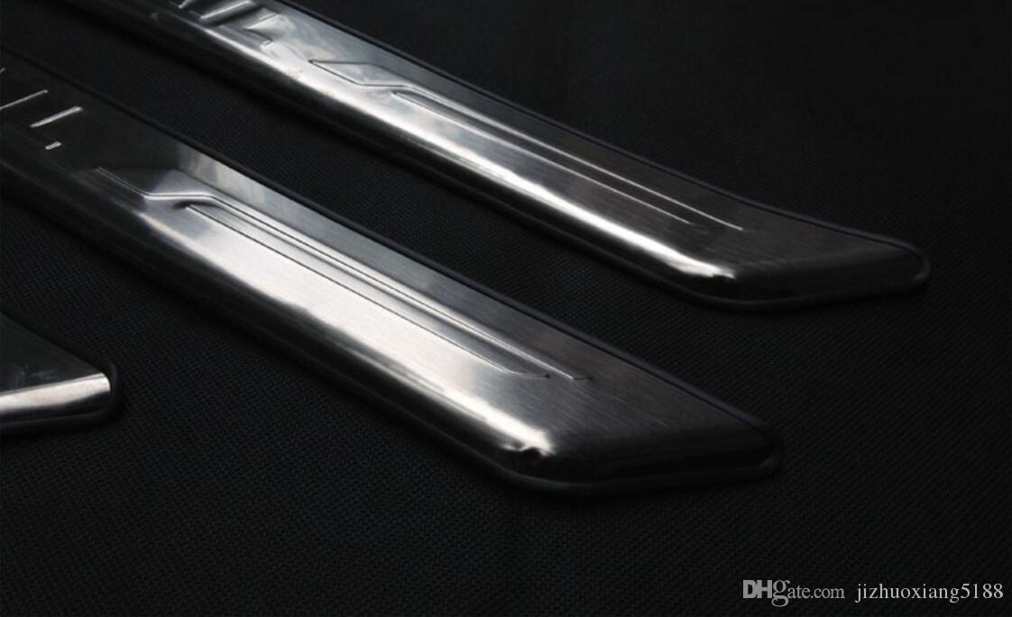 Car accessories Stainless External Door Sill Scuff Plate for 2009 2010 2011 2012 2013 Nissan X-Trail X Trail Welcome Pedal Threshold