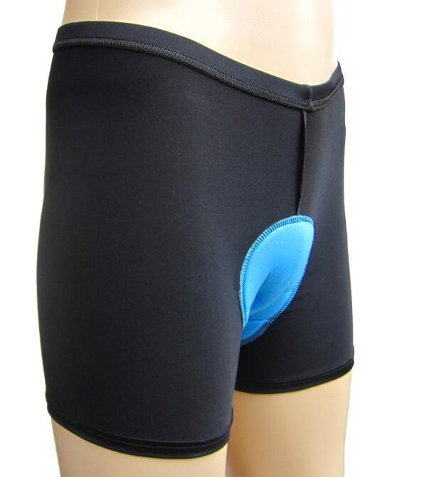 Nuovo Fine Coolmax Ciclo Wear Pantaloni da equitazione Gel biciclette 3D Cuscino imbottito in silicone Cuscini intimo corti MTB Road Bike Uomo Donna 3 pezzi / lotto
