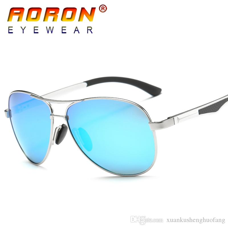 77a5bbcf917 AORON Brand Fashion Eyewear Unisex Sun Glasses Polarized Coating Mirror  UV400 Pilot Driving Classic Color HD Lens For Men Women Accessories Fashion  Eyewear ...