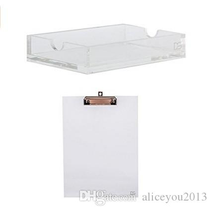 Charming 2018 Draymond Story Gold Toned Acrylic Office Supplies 1 Notepad Holder 1  Clipboard Desktop Stationery From Aliceyou2013, $27.94 | Dhgate.Com