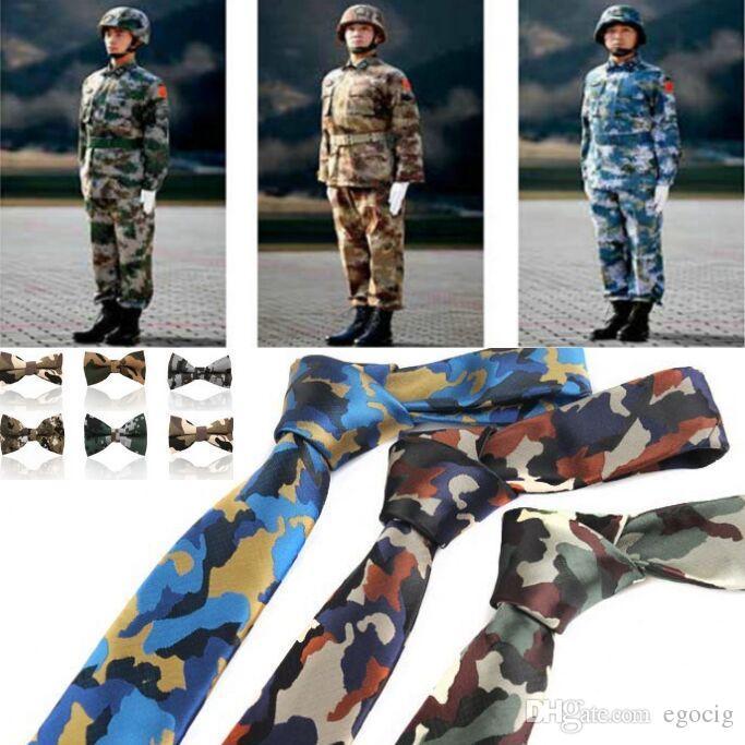 Best Camouflage Neck Tie Bow Tie Sets Soldier Necktie For Men\'S ...