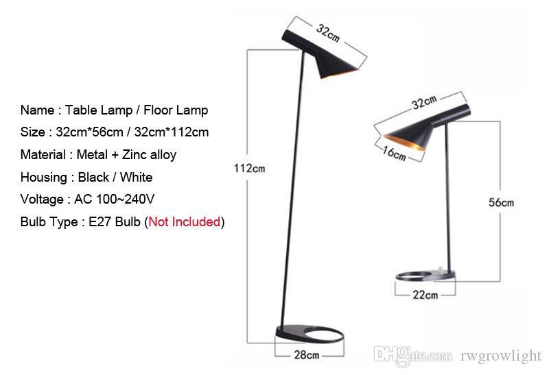 북유럽 모던 플로어 램프 라이트 루이 Poulsen AJ 플로어 램프 테이블 램프 최고 품질 보증 100 % + 무료 배송!