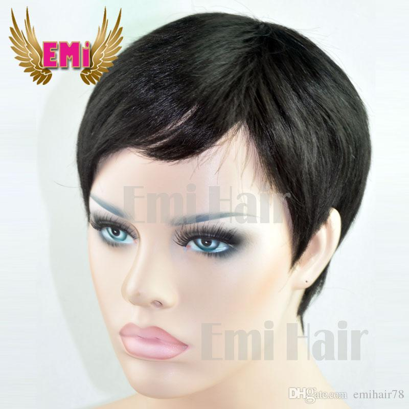 Brazilian Bob Style Short 100 Human Hair Wigs Half Wigs Hairstyles ...