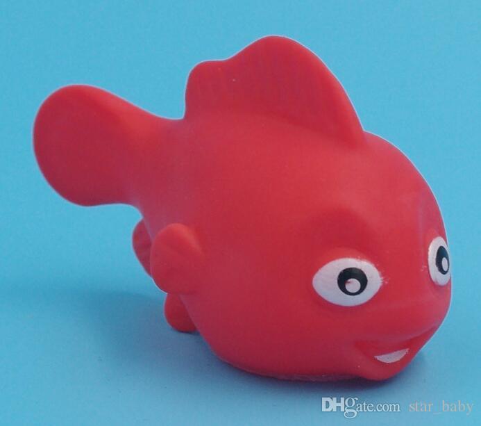 50 Stil EMS Bebek Banyo Oyuncakları Su Yüzer Bebekler Hayvan Karikatür Sarı Ördekler Denizyıldızı Çocuk Yüzme Plaj Kauçuk Oyuncak Çocuklar Hediyeler I4313