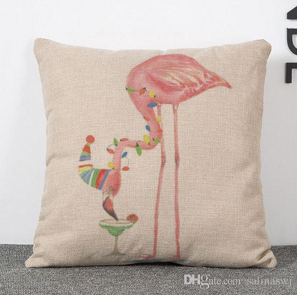 Ordine del campione Flamingo Throw cuscino cuscino divano sedia cuscino caso cerniera 18 * 18 tiro federa la decorazione domestica, divano, auto, ufficio decor