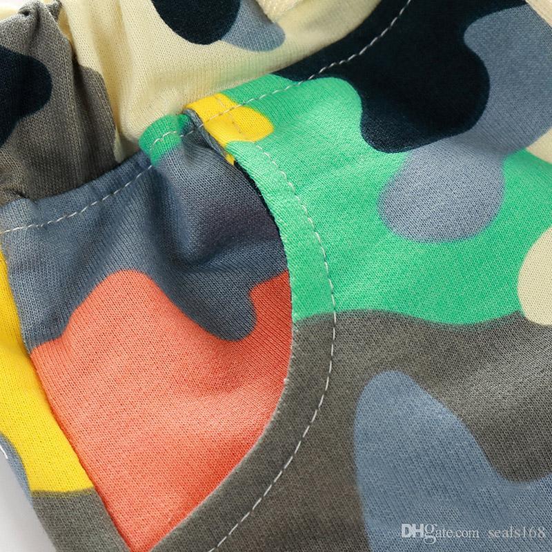 Yeni Bebek Çocuk Kamuflaj Şort Bebek Pamuk Yaz Kargo Şort Erkek Rahat Pantolon Çocuk Giyim Moda Kız Şort ZJ-W12