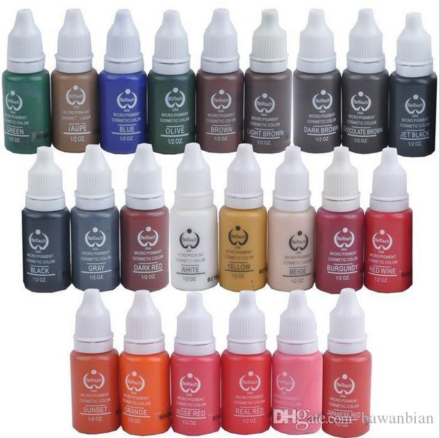 tattoo eyeliner ink set permanent makeup pigments 15ml cosmetic tattoo eyebrow ink paint tattoo lip ink