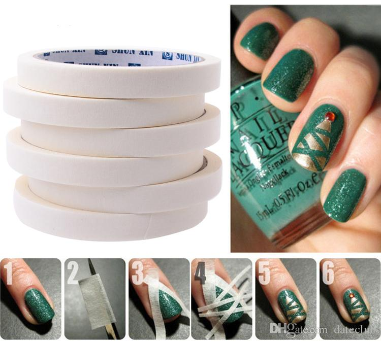 French Manicure Nail Art Tips Creative Nail Stickers Masking Tape Do