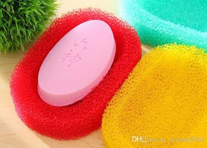 2019 Renkli PU sünger Sabun çanak Banyo aksesuarları Sabun raf Tutucu Zakka ev dekorasyon Yenilik ev eşyaları