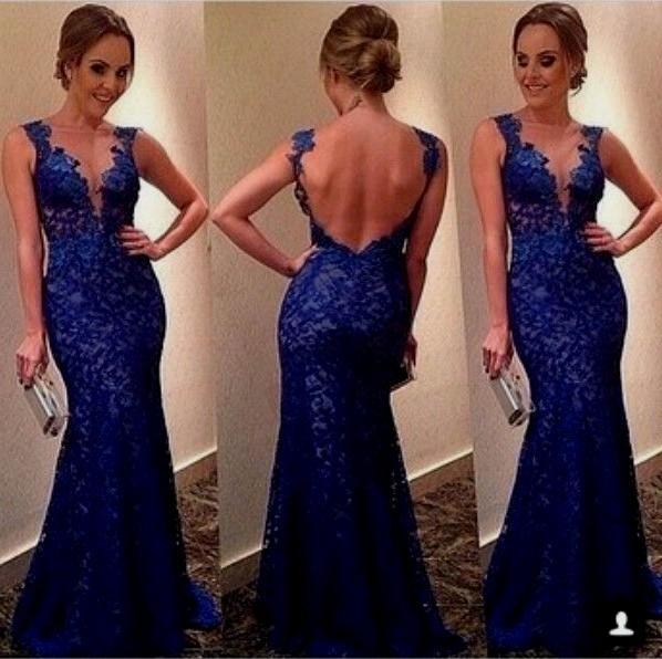 Royal Blue Mermaid Prom Kleider 2017 Neue Sleeveless Scoop Neck Backless Mutter Der Brautkleider Formale Party Kleid Nach Maß Plus Größe