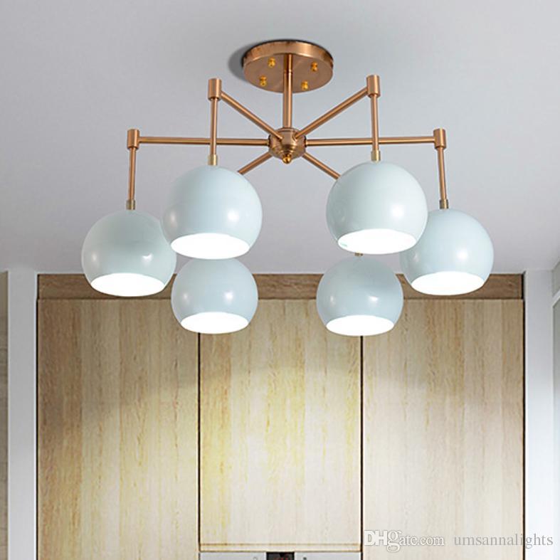 Blue Macaroons Pendant Lamps Led Lights American Modern Pendant ...