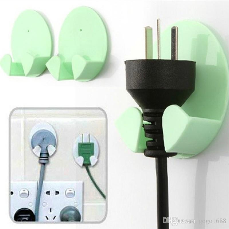 Stainless Steel Power Plug Socket Jack Hook Rack Razor Holder Hanger Glue DD