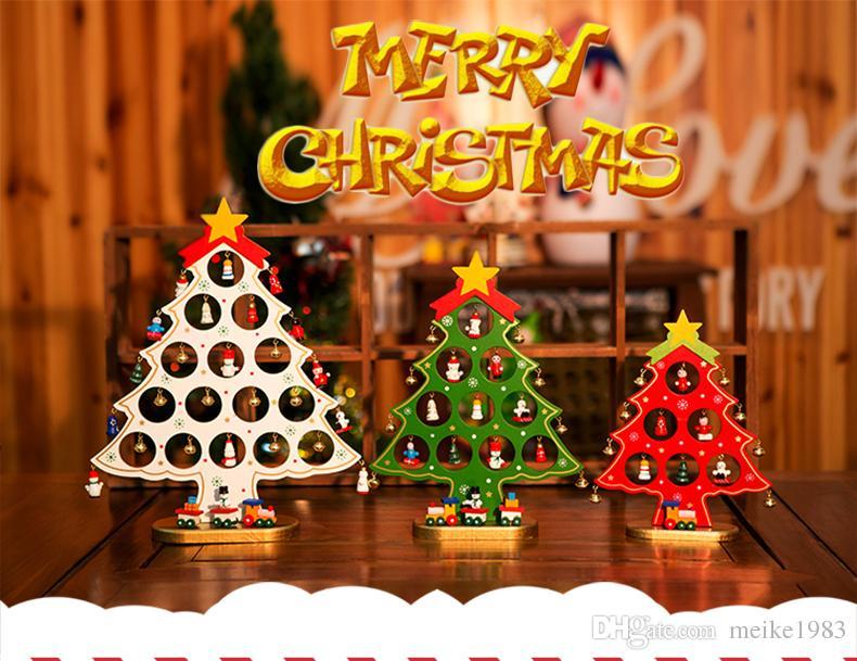 2017 new christmas decorations wooden small christmas tree ornaments single mini christmas trees best christmas toys xmas toys from meike1983 - New Christmas Decorations