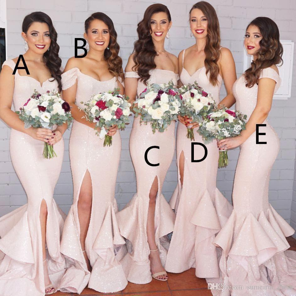 Different Styles Gorgeous Sequined Mermaid Bridesmaid