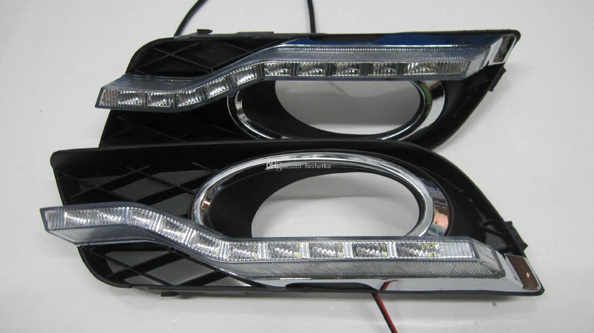 Auto-Tech 10-LED Daytime Running Light Lamp Lâmpada Retrofit Carro LED DRL Kit para 2011-2013 Honda Civic Sedan nona geração