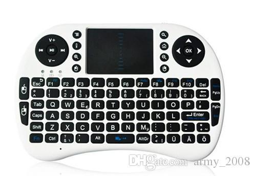 Беспроводная клавиатура RII i8 клавиатуры Fly Air Mouse Мультимедийная Пульт дистанционного управления Touchpad Handheld для TV BOX Android Mini PC 20шт
