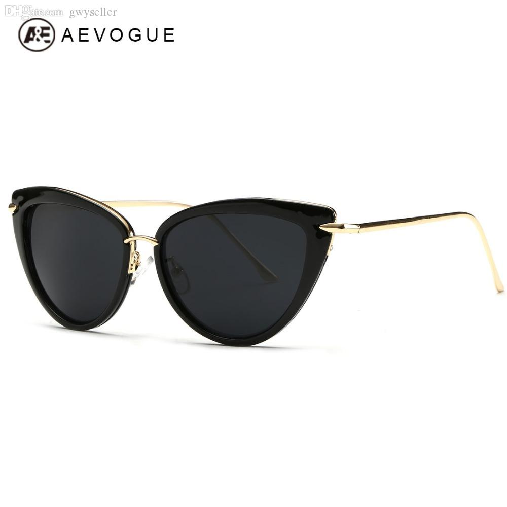 9c2c84b0ef Wholesale-AEVOGUE Sunglasses Women Copper Temple Cat Eye Sun Glasses ...