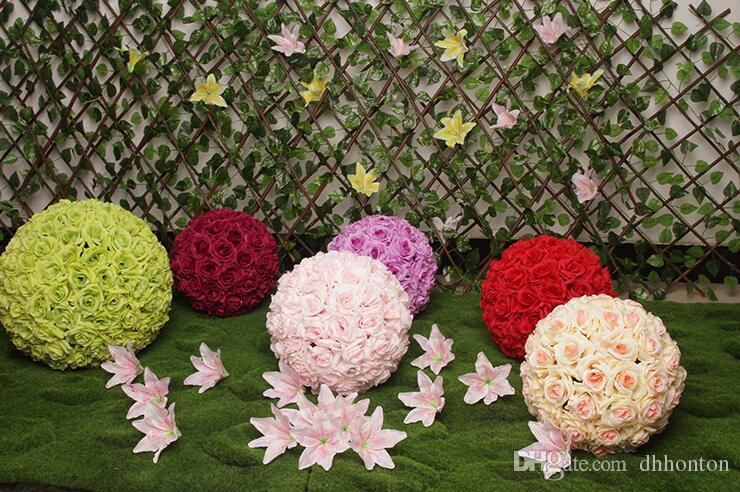 kissing ball wedding ball Pomander Encrypt hanging flower ball decorate artificial flower decoration for wedding party market FB013