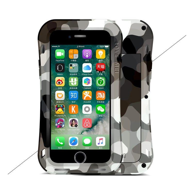 quality design a21e2 219d6 LOVE MEI Camo Case For iPhone 7 Plus Small Waist Shockproof Dust-proof  Drop-proof Protection Case for iPhone 7 5.5