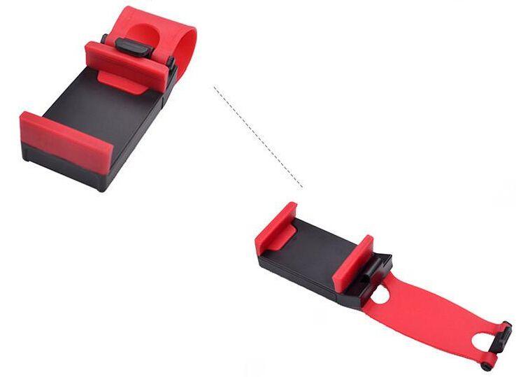 Universal Car Streeling Steering Wheel Cradle Holder SMART Clip Car Bike Mount for Mobile iphone samsung Cell Phone GPS +Retail box US03