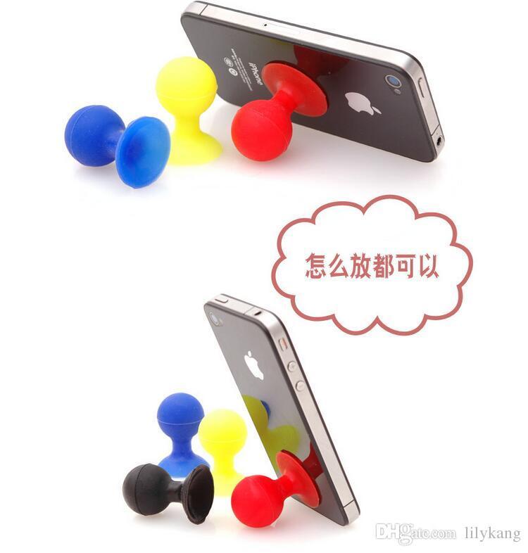 Support de téléphone universel Stander Monopod Mobile Téléphone Caoutchouc de Silicone Octopus Sucker Ball Stand Titulaires mignon téléphone mobile stands