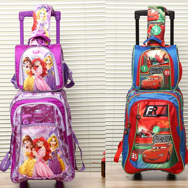 New Arrival Good Quality Children Trolly School Bag Set Trolley ...