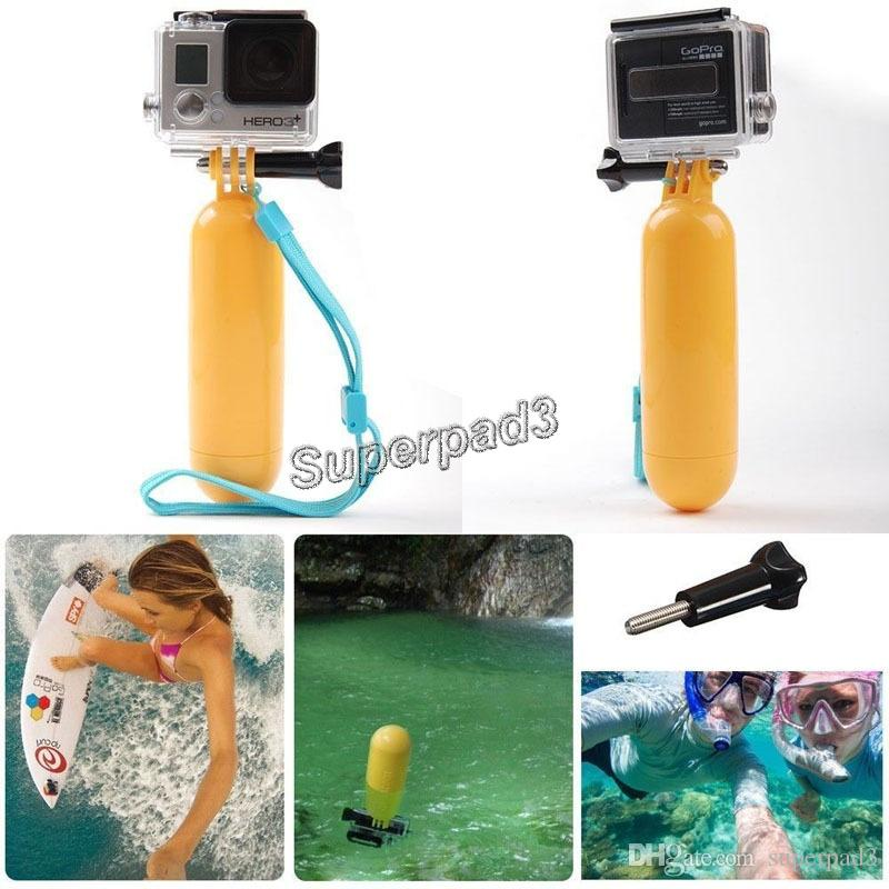 Mini Portable Floaty Bobber with Strap Floating Diving Buoyancy Camera Hand Grip / Handle Mount Stick + Screw for GoPro Hero 3+