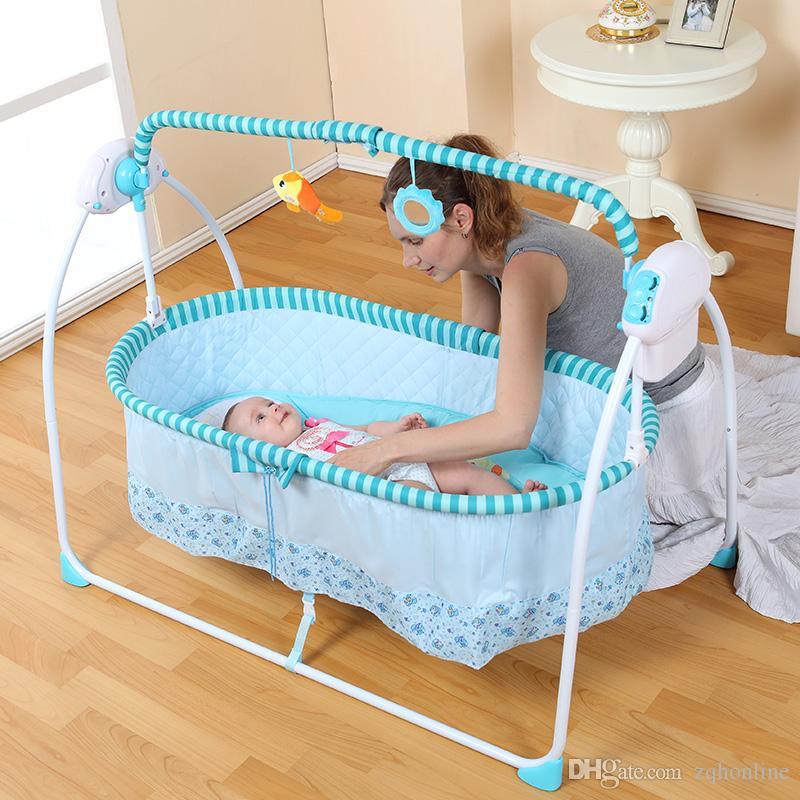 Moda Berço Elétrico Do Bebê, Inteligente Balanço Infantil Elétrico, Bebê  Balançando Cama, Grande Espaço, 100   55 cm, Mosquiteiro, Bluetooth, Baby  Rocker 8a34e742f7