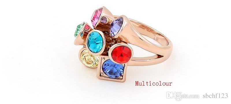 Trouwringen Wedding Bands Hoge Kwaliteit Rose Vergulde Gemaakt met Swarovski Elements Crystal Rings Dames Mode-sieraden 4171