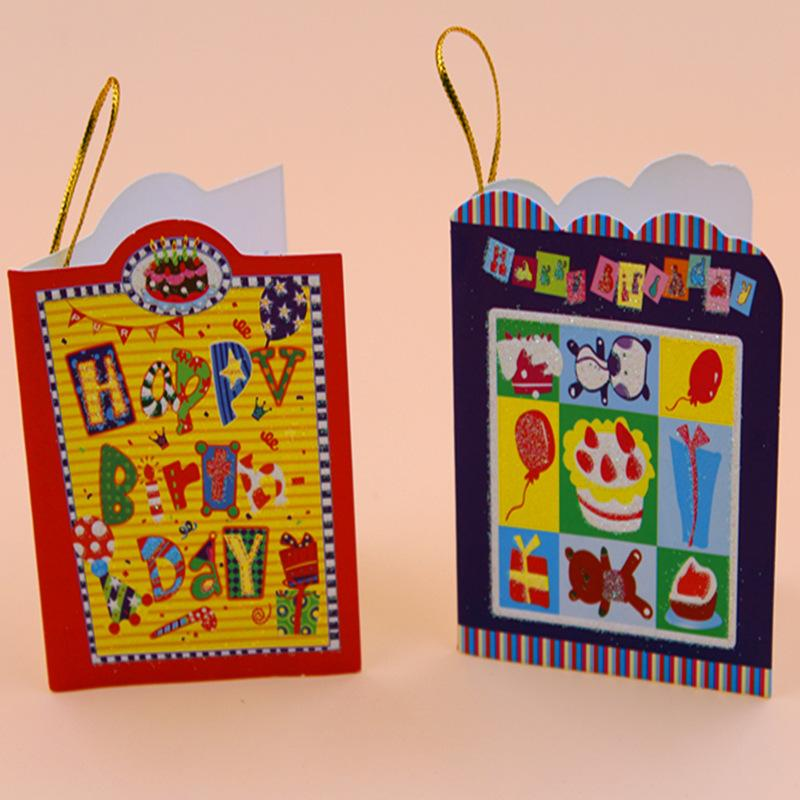 ZG11 Mini Hanging Birthday Cards Lover Gift Hot Cute Valentines Day Card E Greeting From Wholegift 183