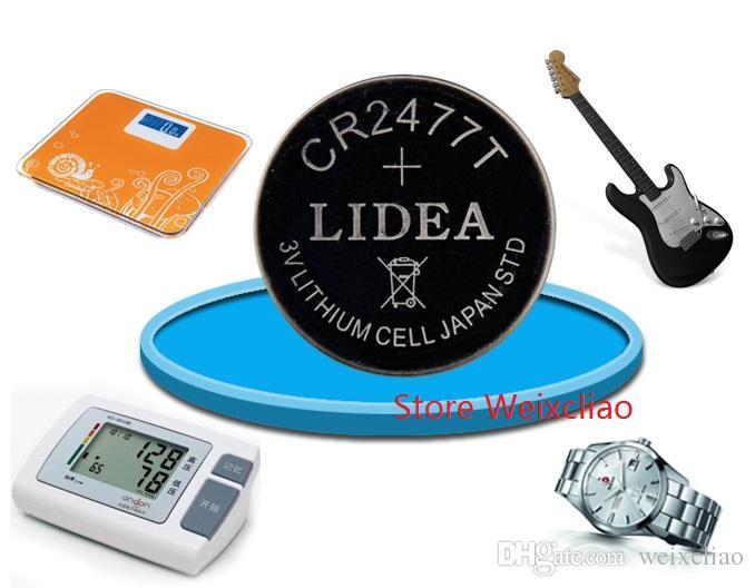 1 개 CR2477 3V 리튬 이온 배터리 셀 리튬 이온 CR 2477 3 볼트 동전 배터리 트레이 패키지 무료 배송