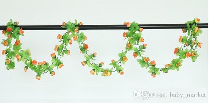 15% di sconto! 2,2 m fiori di rosa artificiali Glicine Fiore di rattan Fiore di seta l'aria condizionata Decorazione matrimonio e casa ornamento /