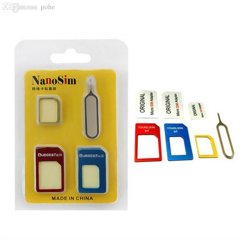 sim karte nano Adapter Sim Karte Großhandels 4 In 1 Nano Sim Karten Adapter Mikro