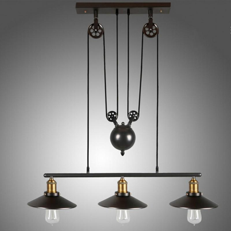 pulley lighting. Dhl Free Ship Vintage Pendant Lamp Iron Pulley Light Bar Restaurant Home Decoration E27 Edison Fixture Lights Green From Lighting
