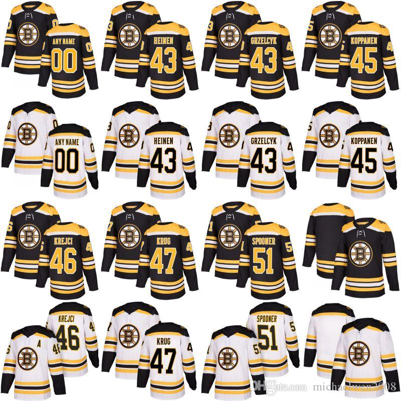 2019 2017 2018 Season 43 Danton Heinen 45 Joona Koppanen 46 David Krejci 47  Torey Krug 51 Ryan Spooner Boston Bruins Custom Hockey Jerseys From ... c8ce2a786