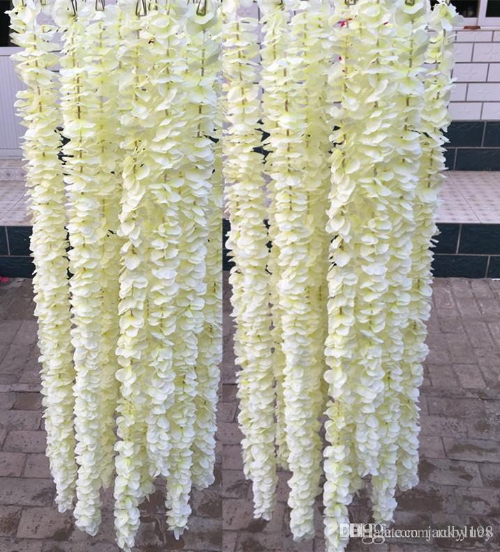 2018 Extra Long Wedding Backdrop Decoration Orchid Flower
