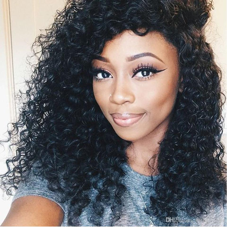 Cheap Human Hair Wigs 7A Brazilian Virign Full Lace Wigs Kinky Curly Lace Front Wig For Women With Baby Hair